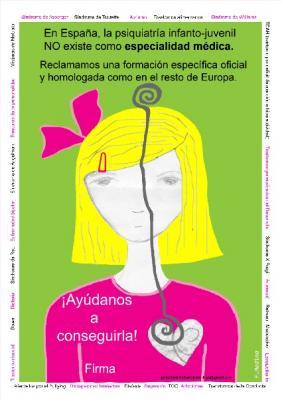 Pon tu granito de arena para que se instaure en España la especialidad de Psiquiatría Infanto-Juvenil