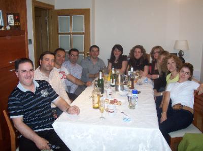 Reunión familiar en casa de María y Juan Carlos